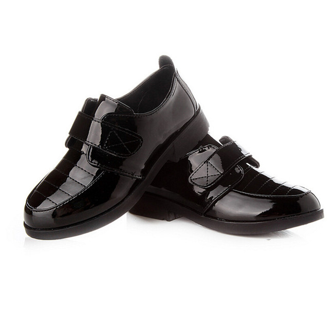 2016 Spring  Autumn Boys Flat Shoes Leather Shoes Children Single Black Child Patent Leather Shoes Sale Student Shoe