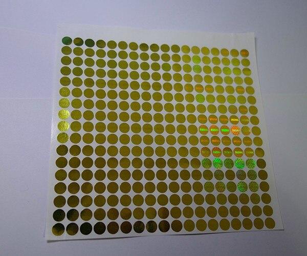 Cor do ouro do diâmetro 8mm, etiqueta