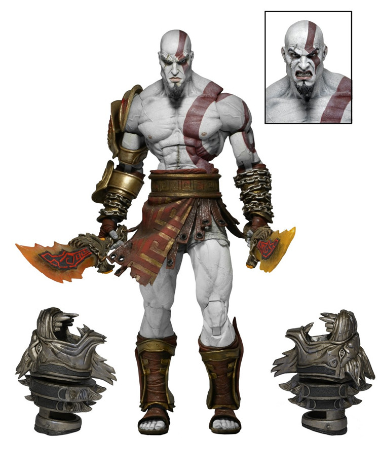 Kratos  toy GOD OF WAR 3 game heros Kratos Ghost of Sparta action figures 18cm PVC doll free shipping play arts kai god of war 3 kratos ghost of sparta pa 28cm pvc action figure doll toys kids gift brinquedos free shipping kb0329