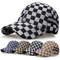 Gamuza tela escocesa gorras de béisbol para los hombres y las mujeres Ocasionales de Los Deportes cappello snapback cap gorro masculino sólido de lady hip hop cap sombrero