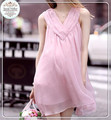 European and American foreign trade new summer sleeveless chiffon skirt dress dress of pregnant women