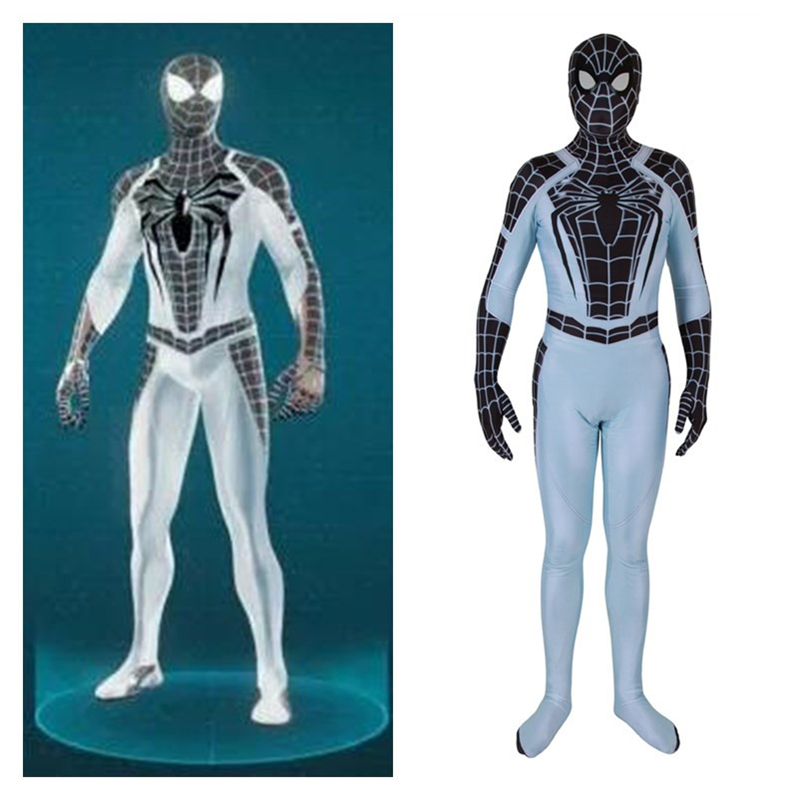 High Quality PS4 Game New Spider-Man Cosplay Costumes Negative Suit Spider Man Spandex Women Men Zentai Bodysuits Jumpsuits Suit