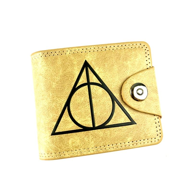 the Harry potter Hogwarts Suicide Squad X wallets purse male Jack skull dealpool short card holder money pocket harry potter ollivanders dumbledore the elder wand in box prop replica
