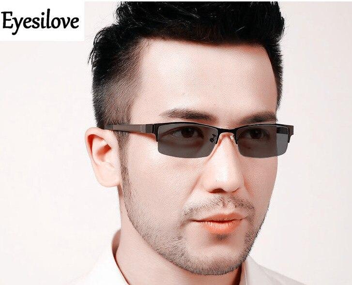 Eyesilove men s myopia glasses photochromic glasses Nearsighted Glasses with Sensitive Lenses Transition Lenses 0 00