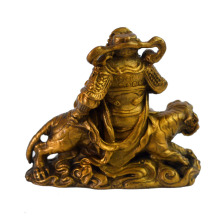 Feng Shui God of Wealth Sitting on Tiger Statue