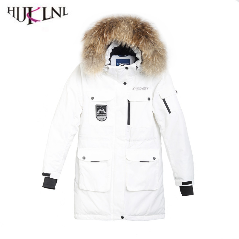 2018 New Women Winter   Down     Coat   Loose Thicken Casual Jacket Fur Collar Hooded Outwear Surface Waterproof Outerwear YP076