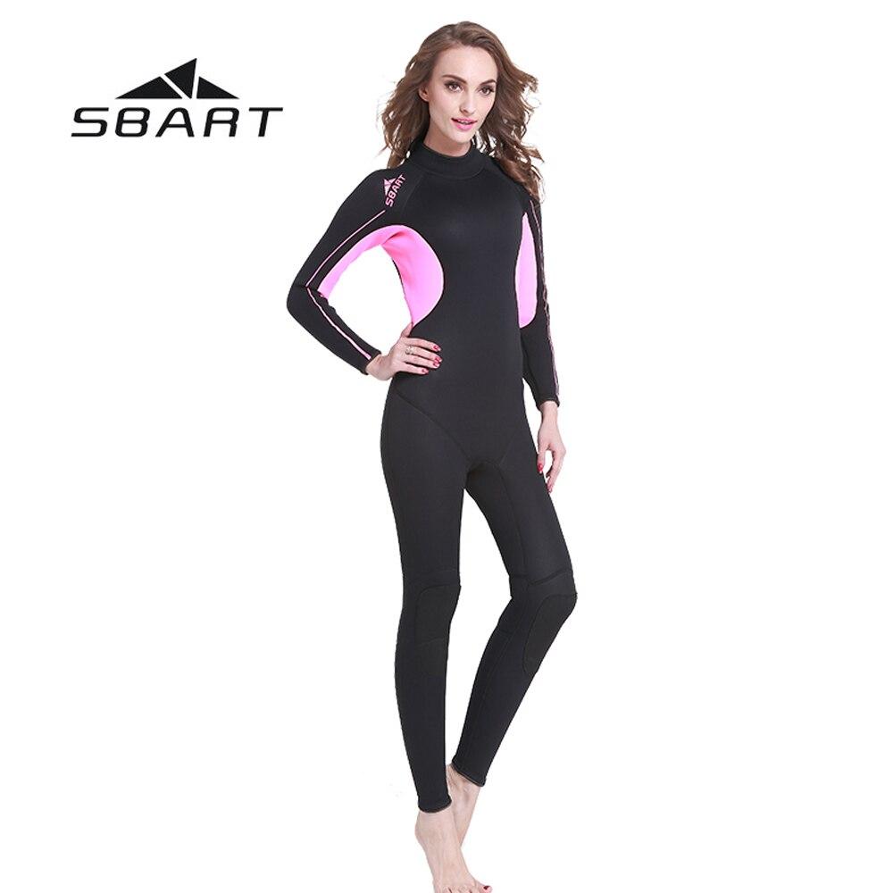 все цены на SBART 3mm Neoprene Women Diving Suit Full Body Wetsuit Spearfishing Triathlon Swimsuit Scuba Diving Snorkeling Wetsuit Jumpsuit