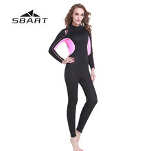 SBART 3mm Neopren Kadınlar dalgıç kıyafeti Tam Vücut Wetsuit Spearfishing Triatlon Mayo Tüplü Dalış Şnorkel Wetsuit Tulum(China)