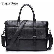 2017 Nwe Männer Casual Aktentasche Business Schulter Leder Messenger Bags Computer Laptop Handtasche herren Reisetaschen handtaschen