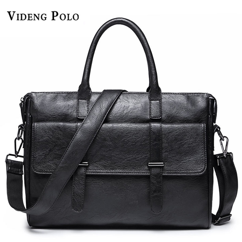 2017 Nwe Men Casual Briefcase Business Shoulder Leather Messenger Bags Computer Laptop Handbag Mens Travel Bags handbags