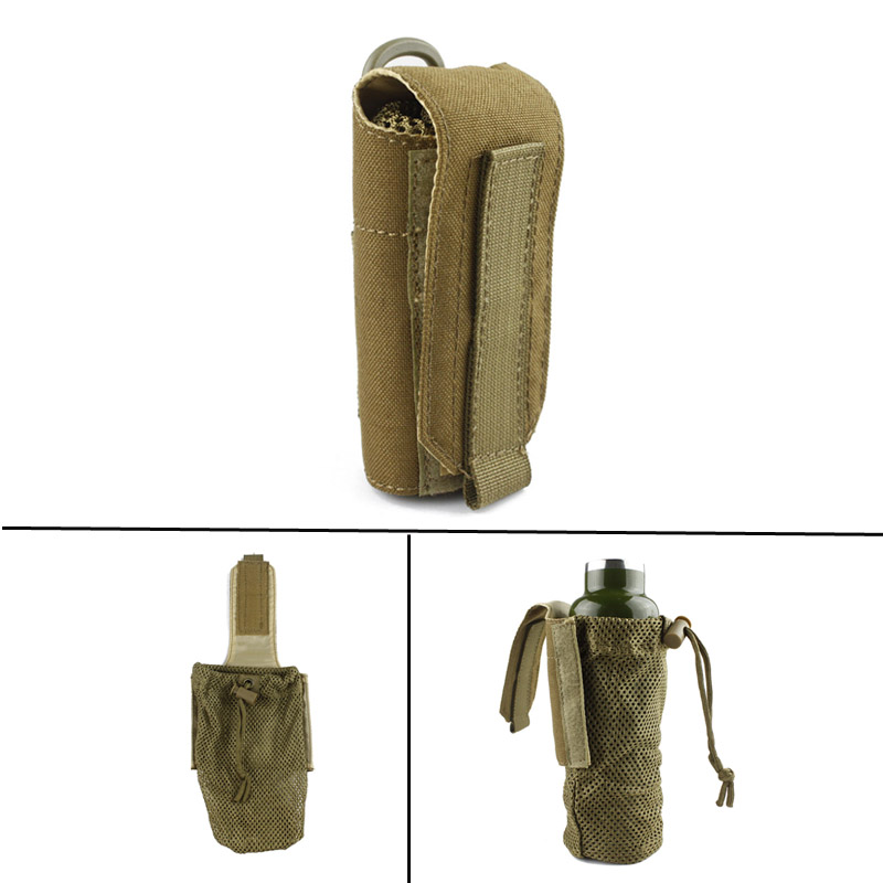 New Molle Tactical Military Travel Water Bottle Pouch Carry Bag Case Outdoor Hunting Hiking Kettle Pouch airsoftpeak military tactical waist hunting bags 1000d outdoor multifunctional edc molle bag durable belt pouch magazine pocket