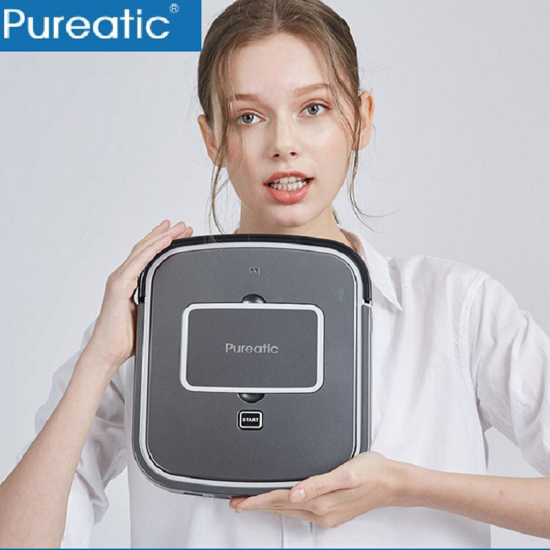 2018 Pureatic Robot Vacuum Cleaner USB Rechargable Ultra Thin Suction Sweep Machine For Pet Hair Dust Cleaner Robot Aspirador цена и фото