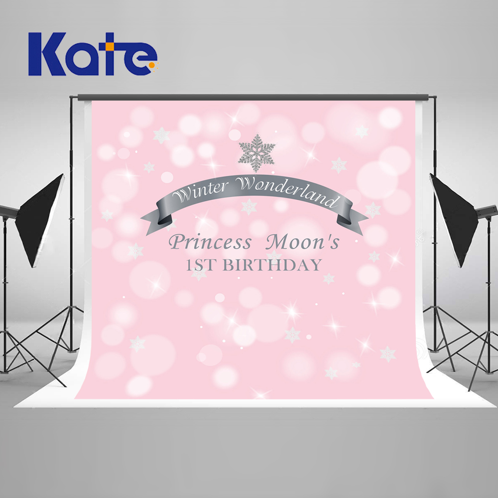 Kate Pink Children 1st Birthday Backdrop Princess Camera Fotografica Profissional Light Spot Photographic Background our kate