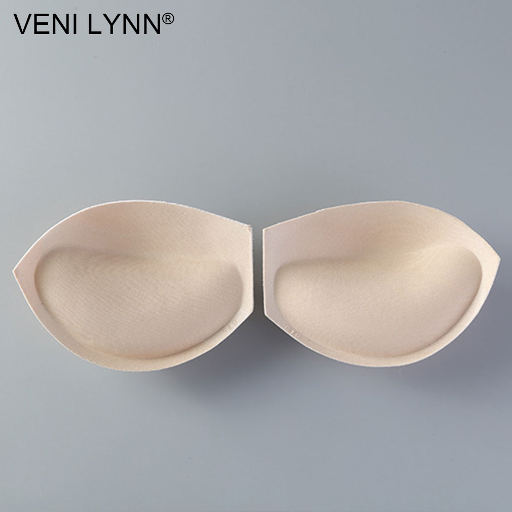 VENI LYNN 3.5cm Thick Foam Breast Enhancement Glue Padding Cotton Bra Pads Removable Sponge Inserts Push Up For Bikini Swimsuit
