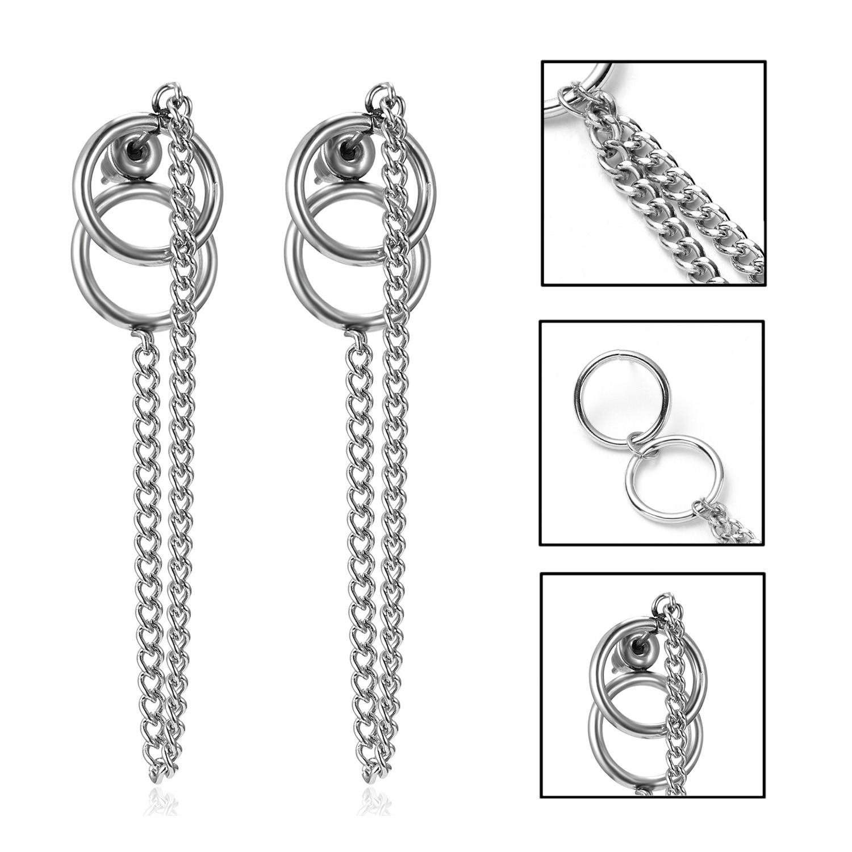 Pendientes Mujer Moda корейские модные ювелирные изделия геометрические длинные серьги-гвоздики с кисточками для женщин Brincos Kpop серьги для мужчин - Окраска металла: 1