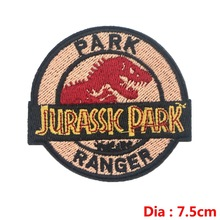 Prajna Dinosaur S1 Jurassic Park Patch Embroidered Ironing Stickers Patches For Clothes Iron On Movies Parches Anime