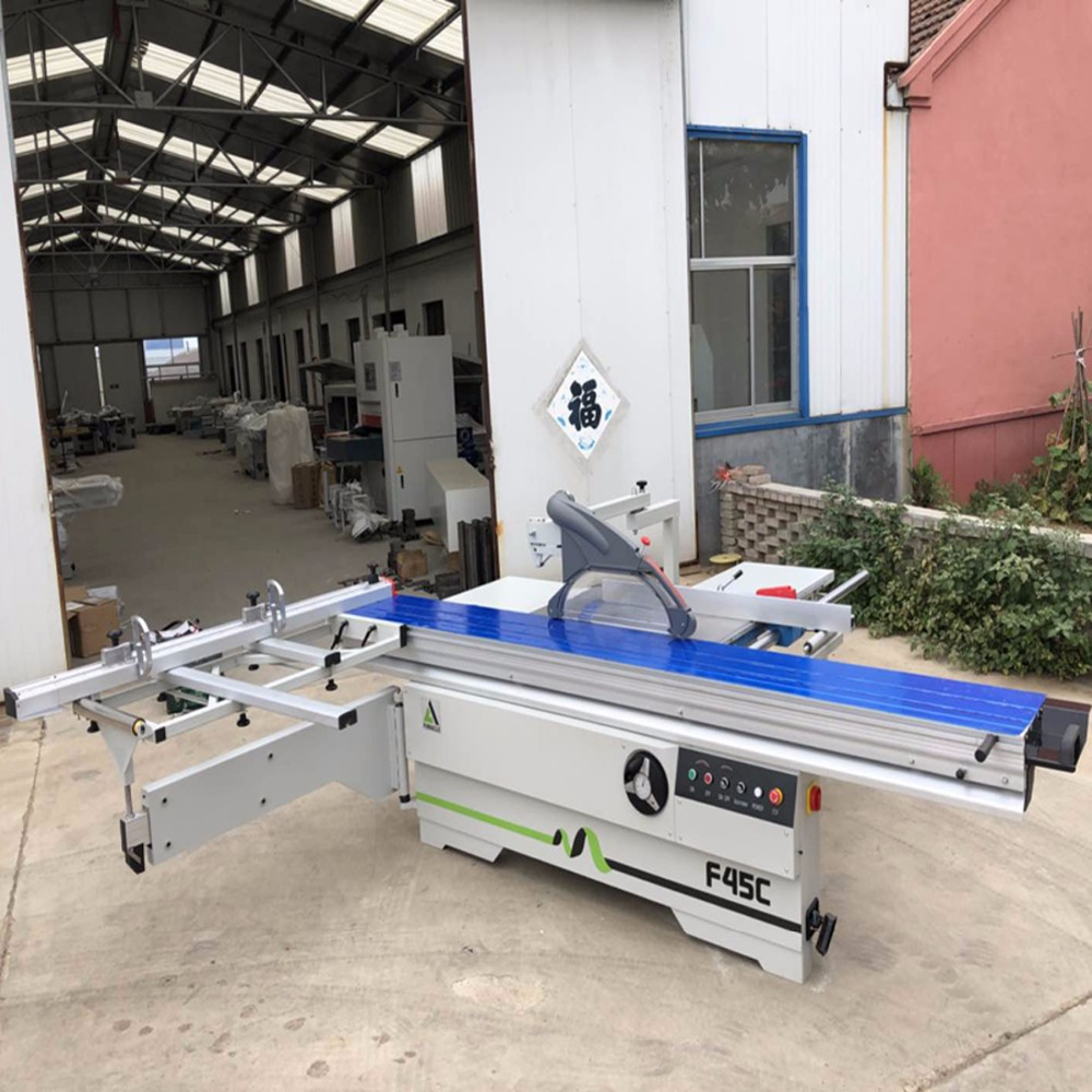 Chine panneau de coupe en bois a vu la machine/table coulissante a vu MJ6128 pour le panneau d'abs de forces de défense principale de pvc