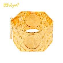 Ethlyn Bracelets pour femmes couleur or jaune Bracelets Vintage napoléon  rond faux bijoux ethnique large Bracelets féminins   br. 50a03f26803