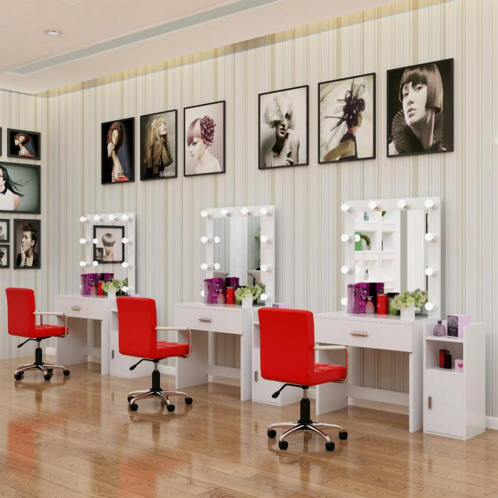 Table De Maquillage Simple Pour Ecole Avec Lampe Professionnelle Miroir De Coiffure Aliexpress