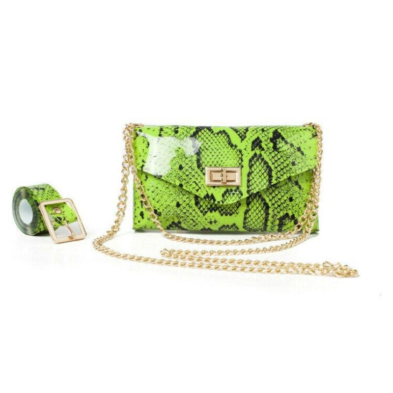 Fluorescent Snake Print Belt Bag Fashion Women's Waist Bag Casual Heuptas Mini Fanny Pack Outdoor Purse