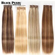 Balayage-extensiones de cabello humano brasileño Remy, pelo liso y sedoso, color negro perla, P4/27, 1 unidad