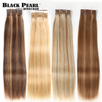 Black Pearl Remy Brazilian Silky Straight Human Hair Bundles P4/27 color 1 PC Balayage Brown Blonde Red Human Hair Extensions