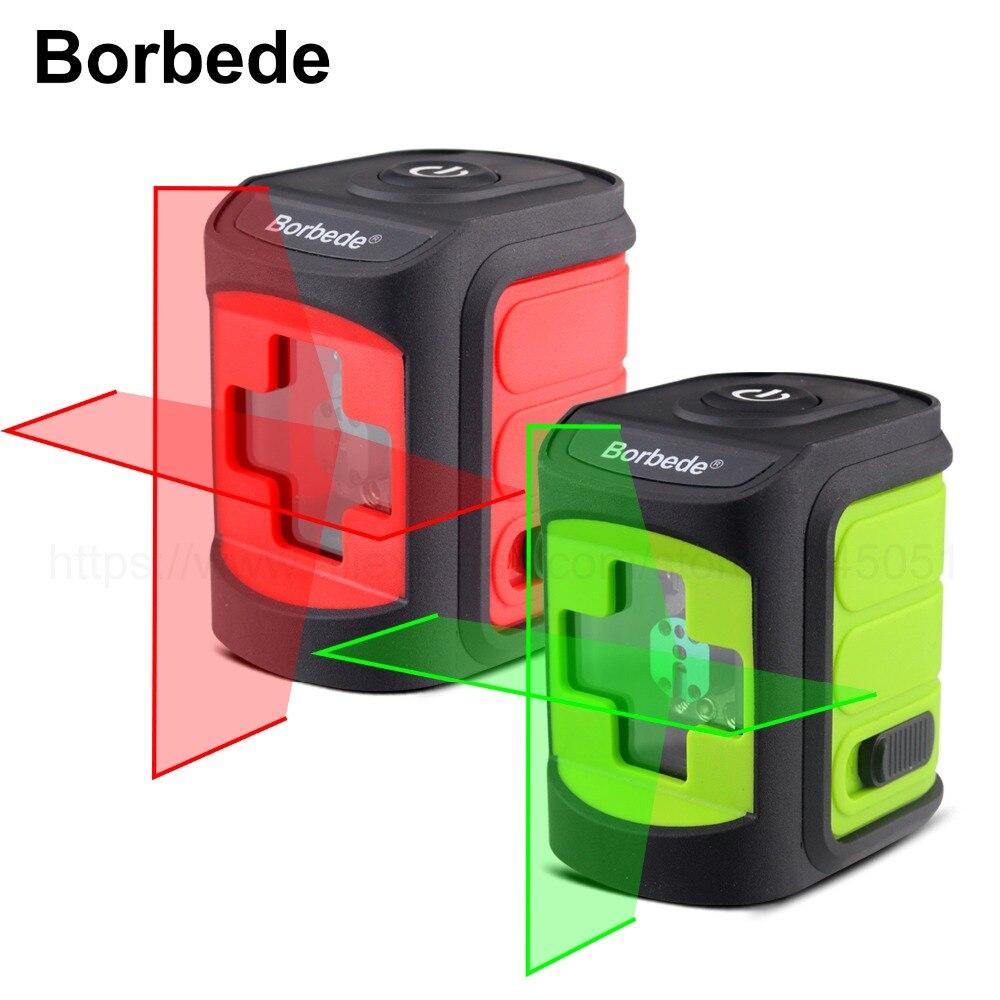 Boebede Laser Level Self-Leveling Horizontal and Vertical Cross Line Red/Green Beam Portable Mini Level Meter