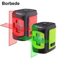 Boebede Laser Level Self Leveling Horizontal and Vertical Cross Line Red/Green Beam Portable Mini Level Meter