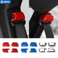 MOPAI ABS сиденье для салона автомобиля пряжка ремня безопасности украшения крышка наклейки для Jeep Wrangler JK 2008 до автомобильные аксессуары укладки