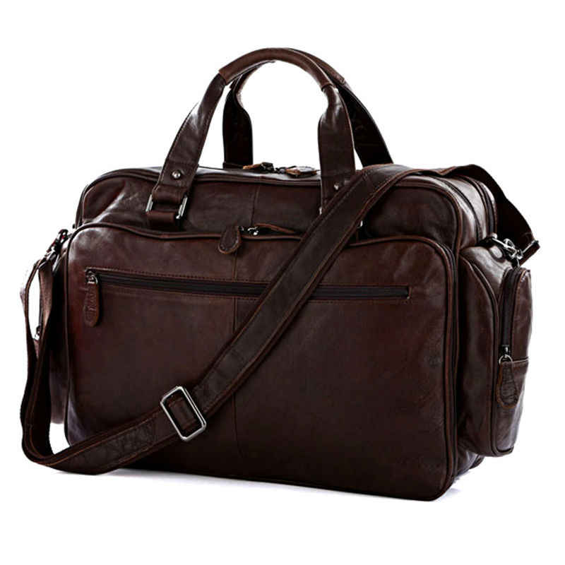 100% Genuine Leather Men Travel Bags Luggage Travel Bag Leather Men Duffle Bags Shoulder Big Weekend Overnight Bags Tote Large