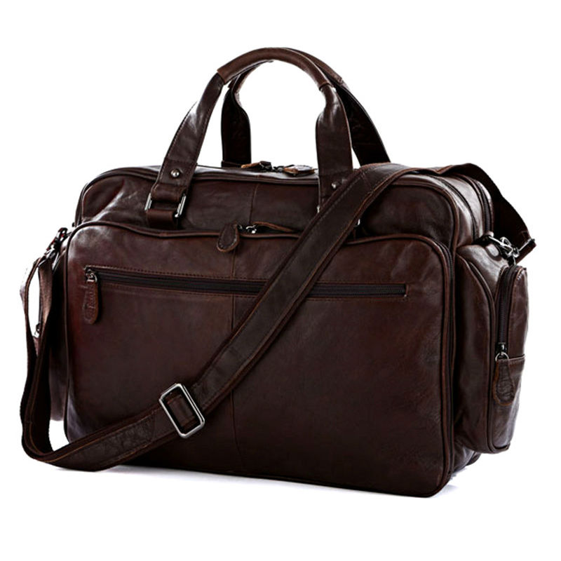 Popular Leather Overnight Bags Men-Buy Cheap Leather Overnight ...