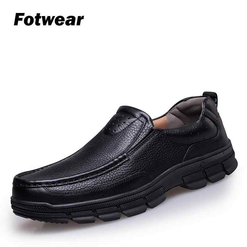 Fotwear Men' Genuine Leather shoes Casual shoes For both dress and casual wear Easy slip on Breathe naturally Office wearing