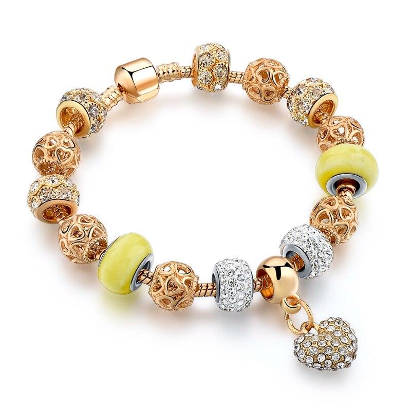 Crystal Heart հմայքը Ապարանջաններ կանանց - Նորաձև զարդեր - Լուսանկար 1