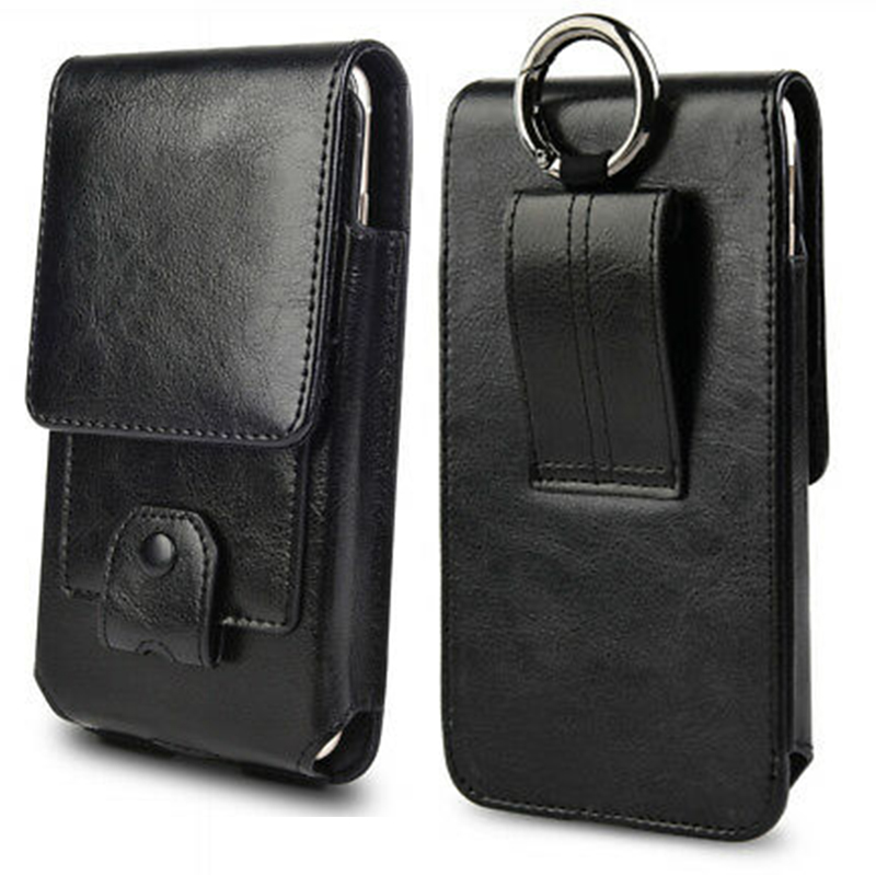 Genuine Leather Phone Pouch Case Holster Cover for Samsung Galaxy S8 S9 S10 Plus Wallet bag with Card Slot for Samsung Note 9 8 image