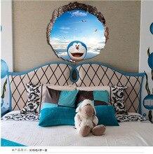 Crianças sala de estar do quarto para crianças dos desenhos animados 3d à prova d' água adesivos de parede diy casa acessórios de decoração decoração da borboleta