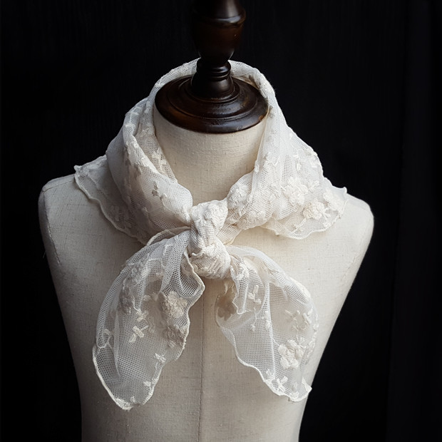 Gothic Lace Flower Embroidery Lace Lolita Princess Sweet Scarf Headband Free Drop Shipping