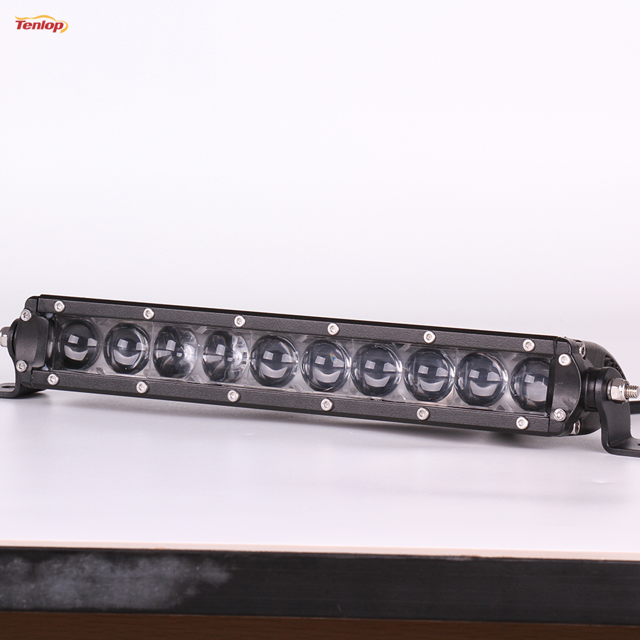 11 Inch 50W With 4D Lens Singe Row Grille Bumper Light Bar For Wrangler Offroad SUV ATV 4*4 12V 24V