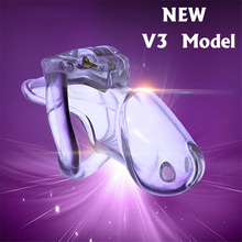 Male Chastity Device V3 Belt 4 Penis Rings Sizes Locking Design Biosourced Resin Cock Cages Lock Adult Sex Toys