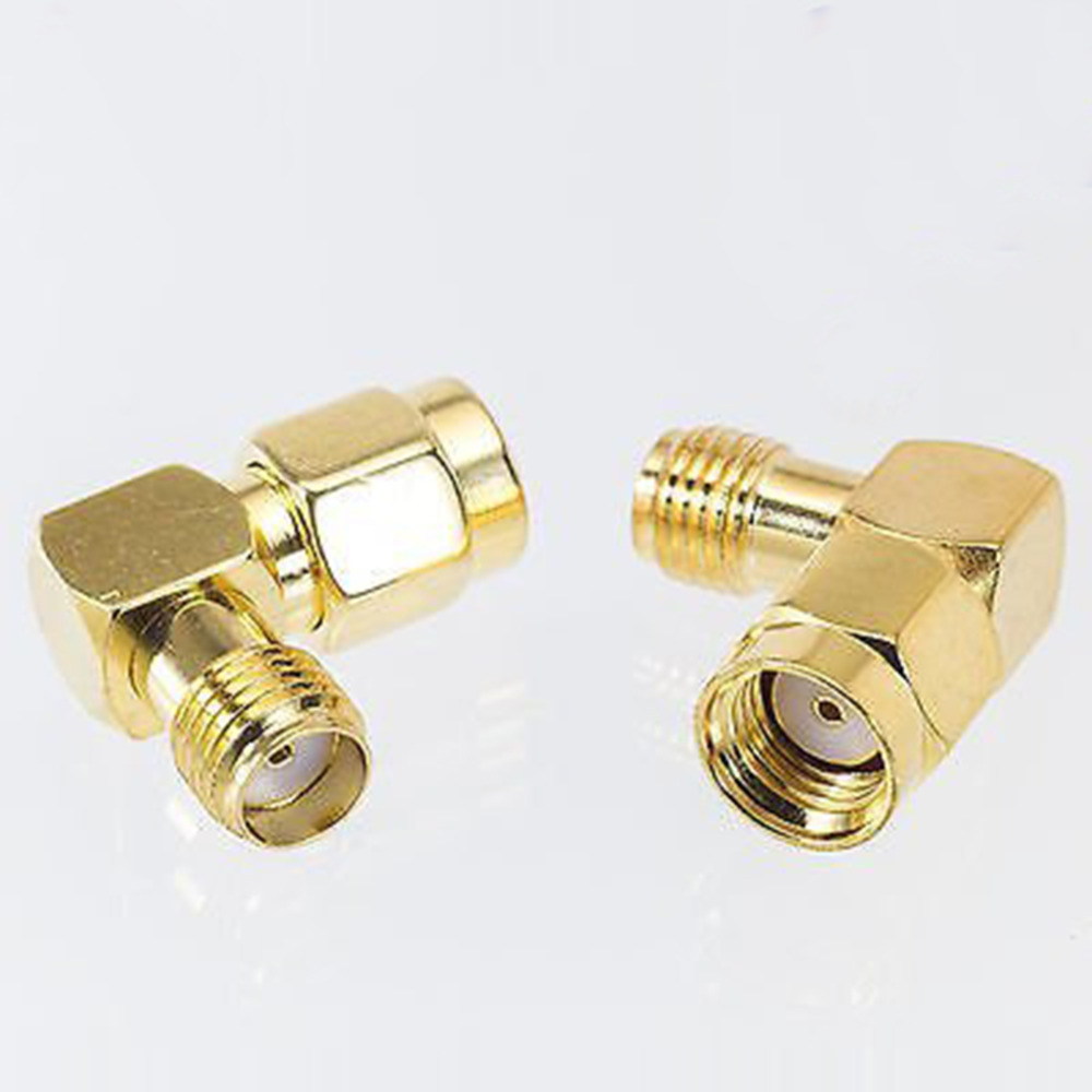 SMA Female to RP SMA Male connector 90 degree right angle RP SMA male to female adapter screw the needle to SMA male to female sma female to rp sma male right angle adapter connector