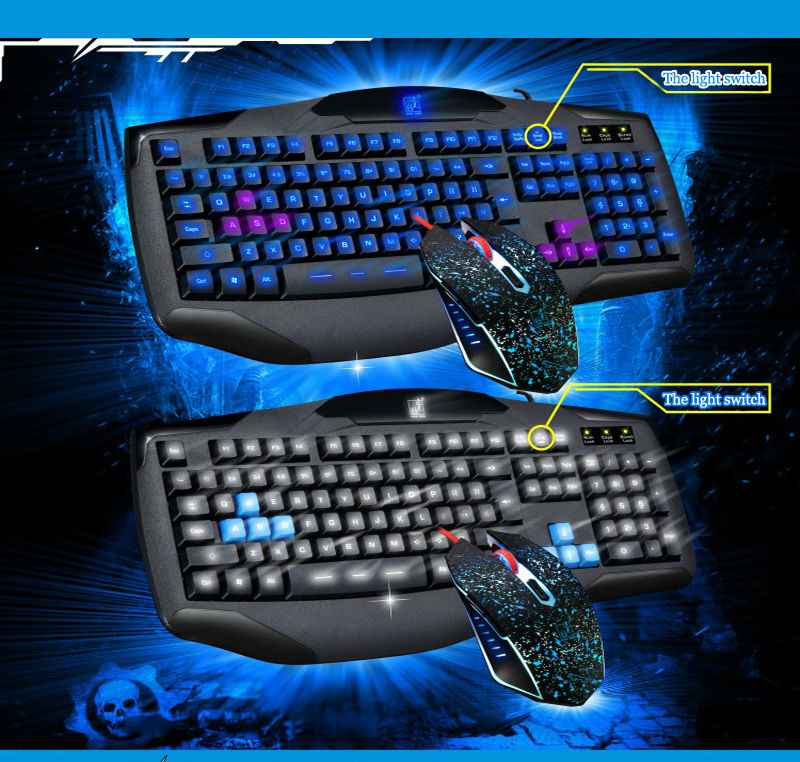 G12 keyboard and mouse computer mouse game cool backlight