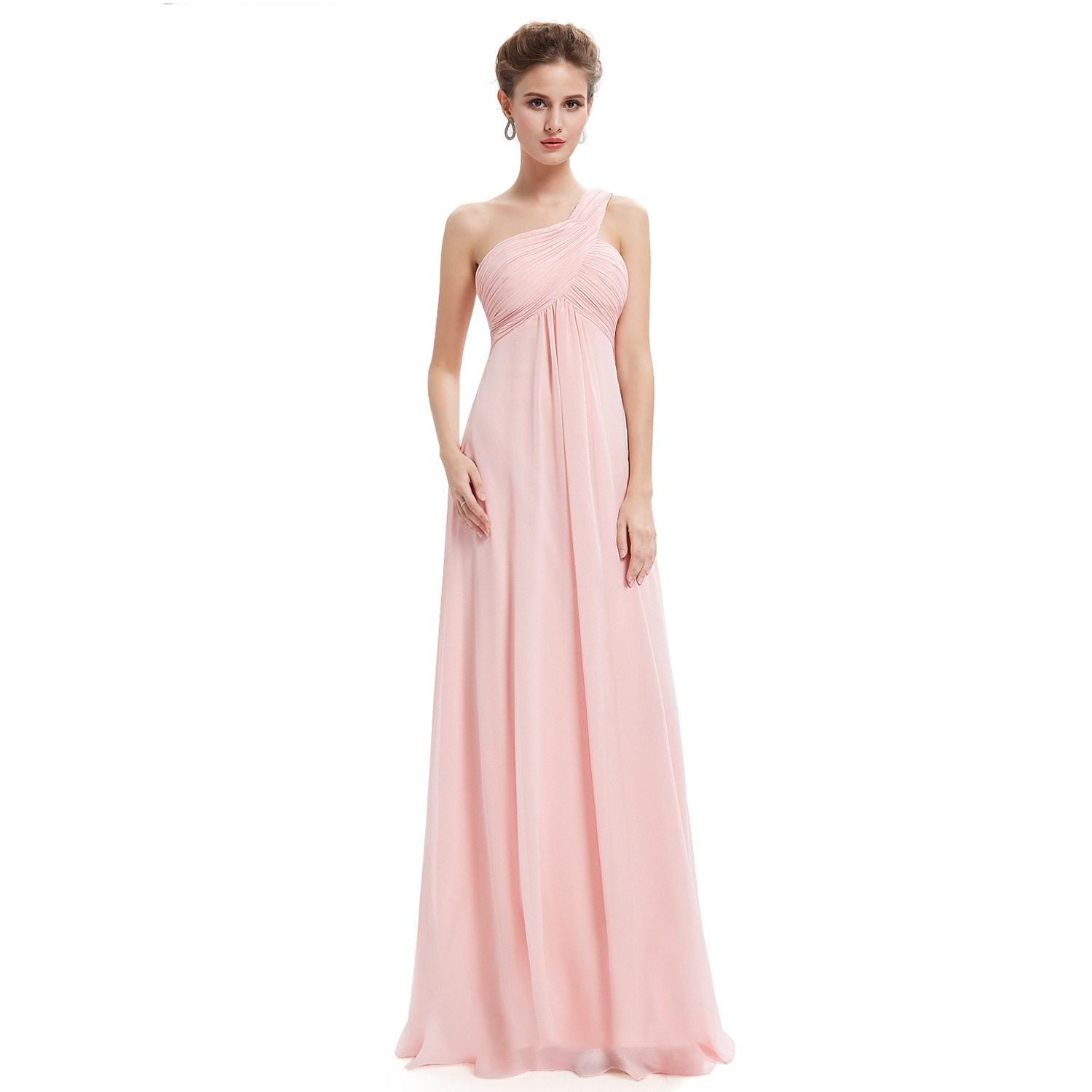 pastel pink bridesmaid modest gown bride dress bridesmaids sister of ...