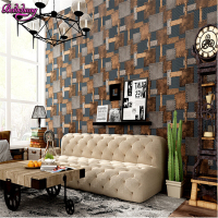 Beibehang Papel De Parede 3D Three Dimensional Retro Wrought Iron PVC Material Wallpaper Living Room Dining