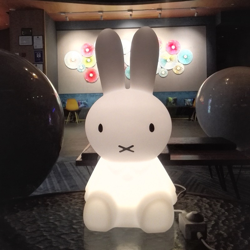 H50cm Rabbit Lamp Baby Bedroom LED Night Light for Children Birthday Christmas Gifts Cartoon Pets Plastic Kids Sleep LED Lamp colorful led rabbit night light bear table lamp rechargeable children baby kids birthday christmas gift animal cartoon led lamp