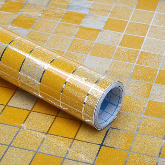 DIY Foil Oil Proof Wall Sticker Aluminum Waterproof kitchen Wall ...
