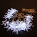 2 metro 20LED de Nieve Caja de La Batería Jardín Fiesta de navidad de Hadas Luz de la Secuencia de La Boda de Navidad Decoración Luz FULI