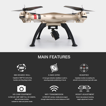 SYMA X8W X8HG X8HW FPV WIFI RC Drone With H9R 4K/1080P Camera HD 2.4G 4CH 6 Axis RTF RC Quadcopter Helicopter VS MJX Bug3