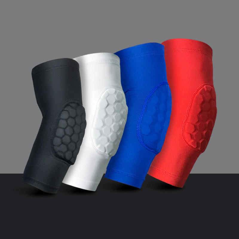 1pc Sport Gym Fitness Elbow Sleeve Pads Elastic Arm Joint Protector Paded Support Basketball Volleyball Absorb Sweat Protection