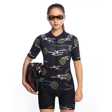FUALRNY Womens Cycling Clothing Set Short Sleeve Summer Breathable Road Mountain BikeMTB Bicycle Jerseys Bib Shorts Gel