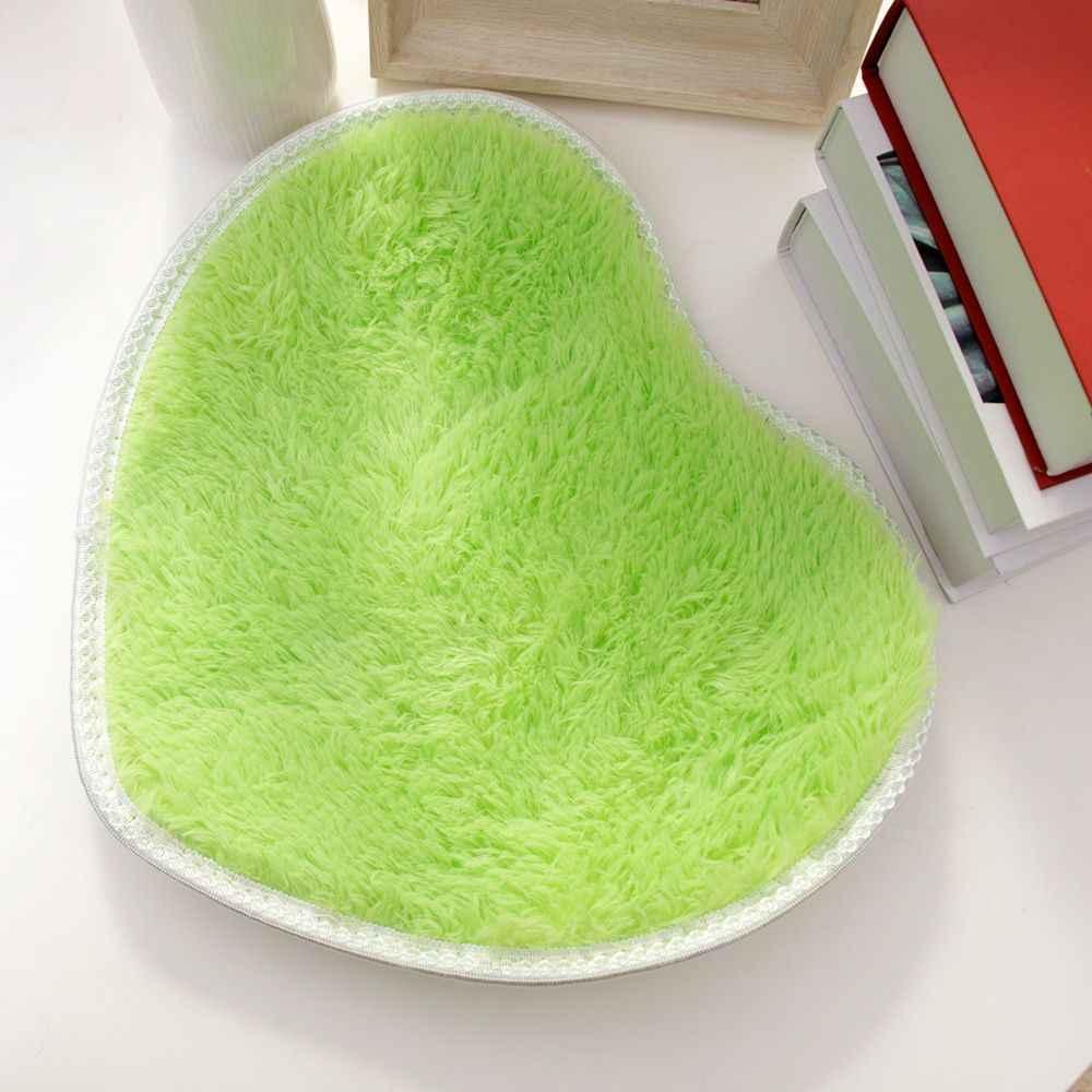 Современные в форме сердца ковры комнатные Придверные коврики подушки 30X40 см ворсистый ковер пол отправить случайный цвет