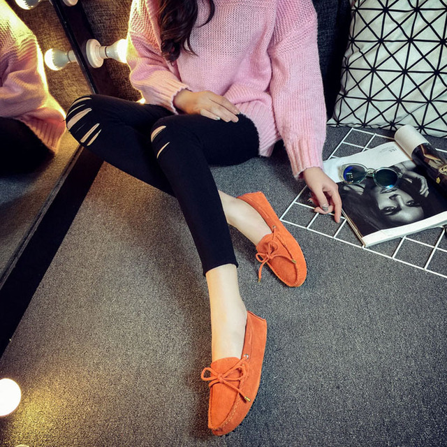 100% Genuine Leather Slip On Casual Women's Loafers 3